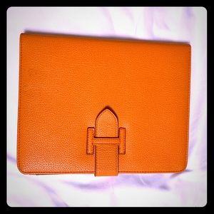 Accessories - iPad Holder Orange Leather Holder